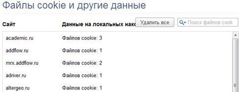 Cookies Google Chrome